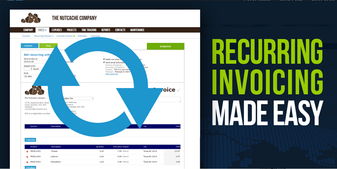 Looking for an easy way to send invoices on a regular basis?